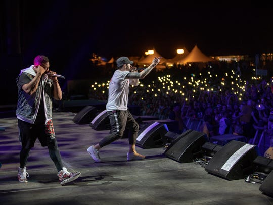 Eminem performs at Firefly Music Festival on June 16,