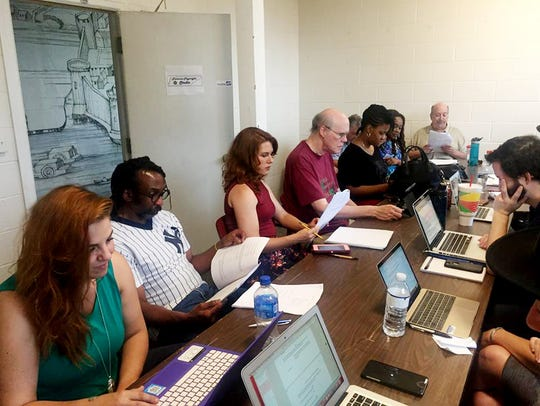 Recent workshop meeting of the Tennessee Playwrights