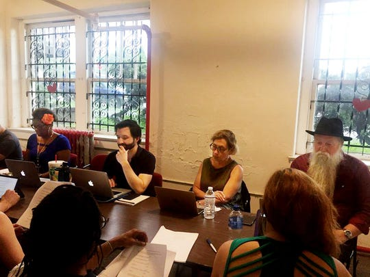 Recent workshop meeting of the Tennessee Playwrights Studio.