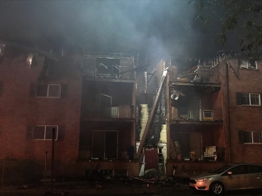 There was a fire at Village Inn Apartments Sunday night.