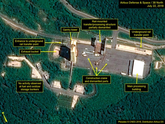 AP NORTH KOREA DISMANTLING ROCKET FACILITY I PRK
