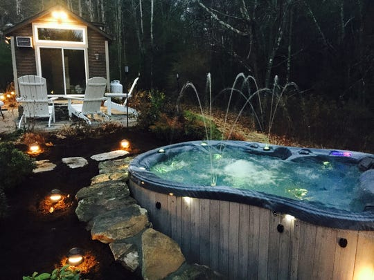 Outdoor spas can serve as a welcomed outdoor amenity.