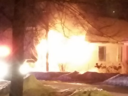 A fire severely damaged a vacant home in the 500 block