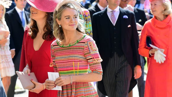 Cressida Bonas arrives for the wedding.