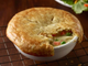 Cheddar's pot pie is loaded with chicken.