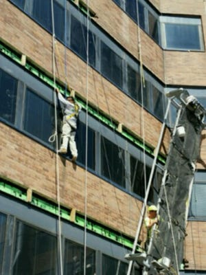 Christiana Fire Company helps rescue two workers late Thursday morning.