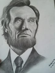 Abdulfatah created a portrait of Abraham Lincoln after