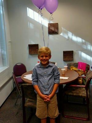 Third-grader Ryan Knapp
