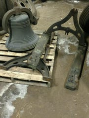 The bell from the now-demolished Lincoln School in