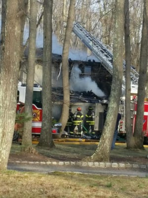 A family lost their home to fire in Millstone Township Monday evening.