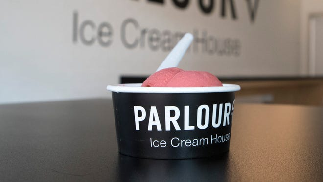 Ice cream at Parlour Ice Cream House is shown on Monday, April 30, 2018 in Sioux Falls, S.D. The Parlour Ice Cream House is set to open on Thursday, May 3, 2018.