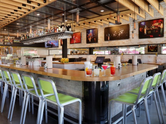 An interior shot from Hopdoddy Fort Worth in Texas.