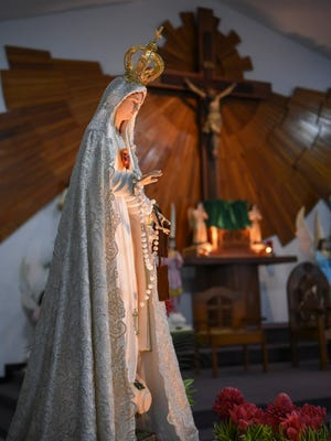 The Our Lady of Fatima statue at the Immaculate Heart of Mary Church in Toto on Aug. 22, 2017.