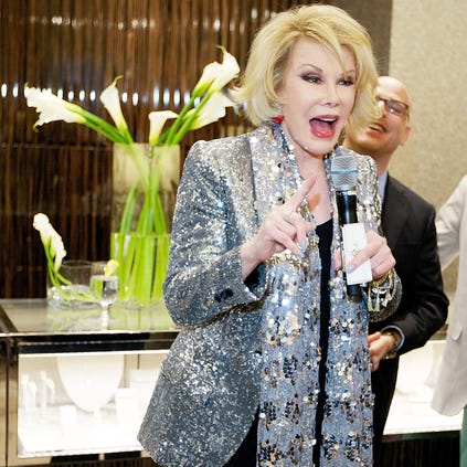 Actress, comedian, and writer Joan Rivers attends Michigan Avenue Magazine Celebrates Its Women Of Influence, May/June Issue With Joan Rivers at Neiman Marcus Chicago on May 27, 2014 in Chicago, Illinois.