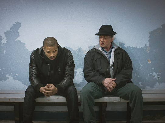Michael B. Jordan as Adonis Johnson and Sylvester Stallone