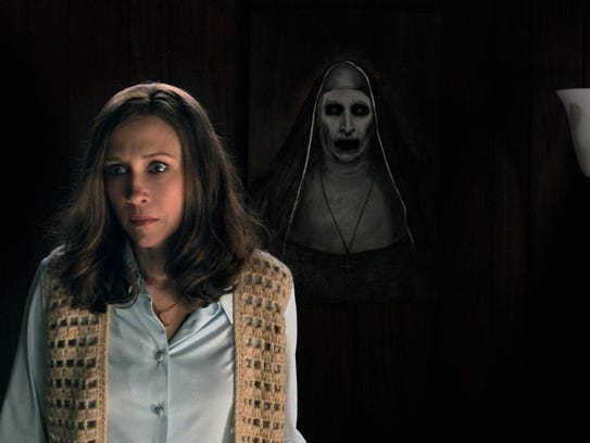 "Vera Farmiga stars as Lorraine Warren in ""The Conjuring"