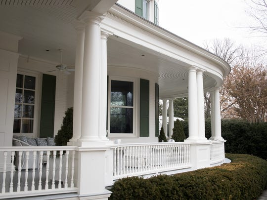 1/10/18 12:04:15 PM -- Washington, DC  -- Number One Observatory Circle, the vice president's residence located on the northeast grounds of the U.S. Naval Observatory in Washington, D.C.  --    Photo by Jack Gruber, USA TODAY staff ORG XMIT:  JG 136877 Karen Pence 01/10/201 [Via MerlinFTP Drop]