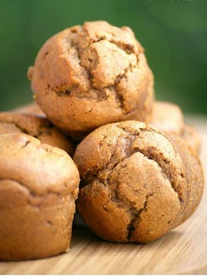 Flourless Muffins with Raisins, Chocolate Chips and Almond Butter