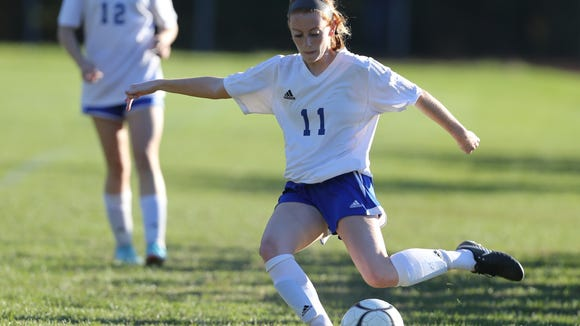 Pearl River defeats John Jay-CR 1-0 in the girls soccer Class A semifinal match at Pearl River High School on Friday, October 27, 2017.