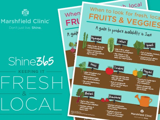 When to look for fresh, local fruits and vegetables.