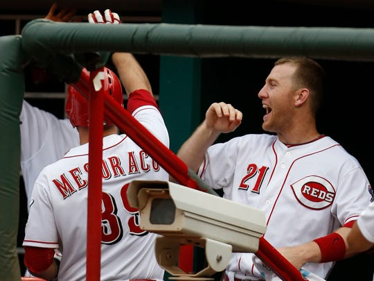 Todd Frazier (right) and Devon Mesoraco were both MLB All-Stars this season.