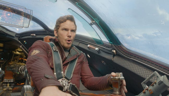 'Guardians of the Galaxy,' starring Chris Pratt, was No. 1 in its debut weekend.