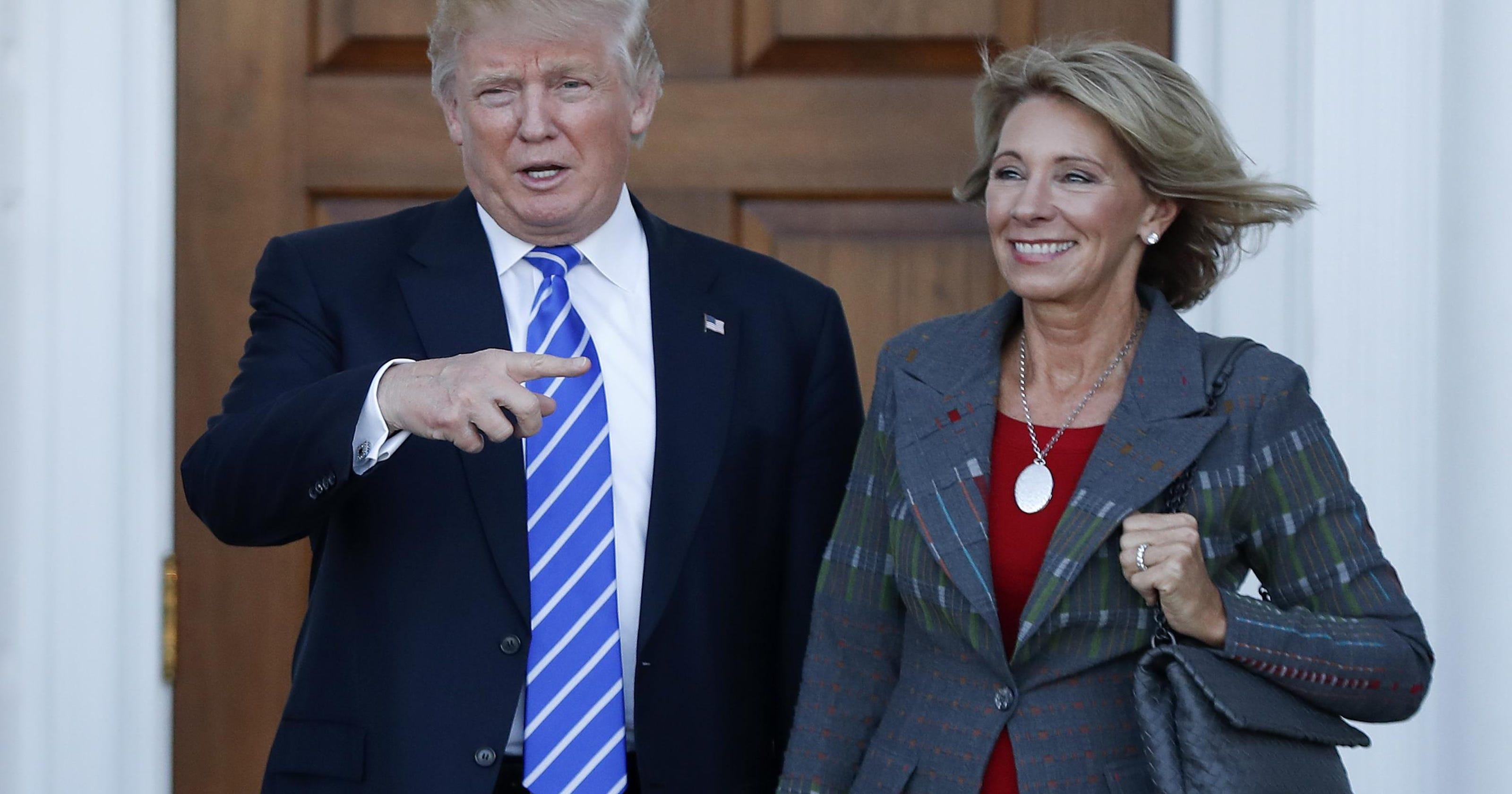 Betsy Devos Trumps Education Pick Plays >> Trump Picks Betsy Devos For Education Secretary Post