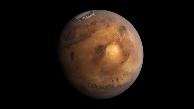 A simple view of Mars rendered in Autodesk Maya.