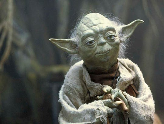 "Yoda made his first appearance in 1980's ""Star Wars:"