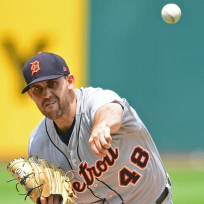 Tigers pitcher Matthew Boyd delivers in the first inning