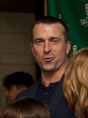 Chris Herren, a former NBA player, spoke at York College, seen here, in March and returned this week to speak locally about substance abuse.