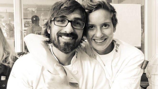 Juan Andres Rodriguez Palazuelos and Juli Trujillo Escobar of Juli Y Juan catering.