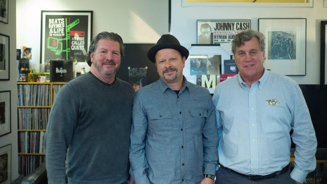 The three co-chairs of the Asbury Park Music In Film Festival Advisory Board: (left to right) Tom Donovan, Danny Clinch and Tom Bernard.