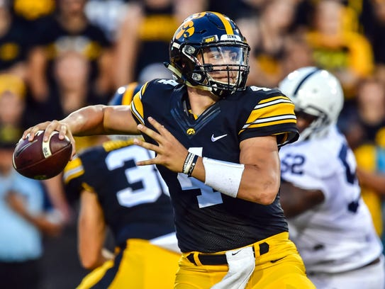 Iowa quarterback Nate Stanley threw 26 touchdowns as a first-year starter but knows he must improve in all areas as he takes control of the team entering his junior year.