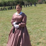 Kathy Lutz in her Civil War attire at Appomattox, Virginia, the site of a major battle. Lutz was there on April 10, 2015, for the 150th anniversary reenactment of the battle at Appomattox.