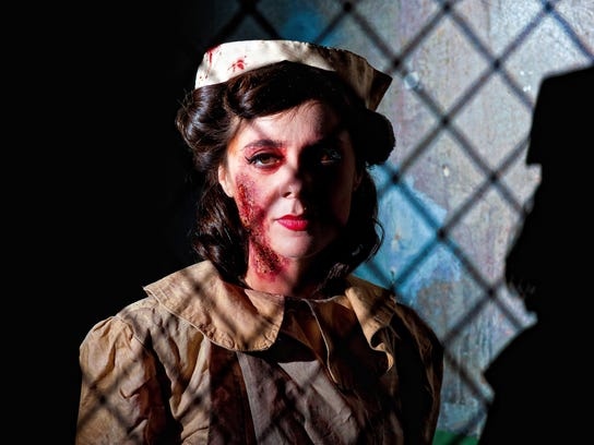 A scary nurse on duty at Terror Behind the Walls at