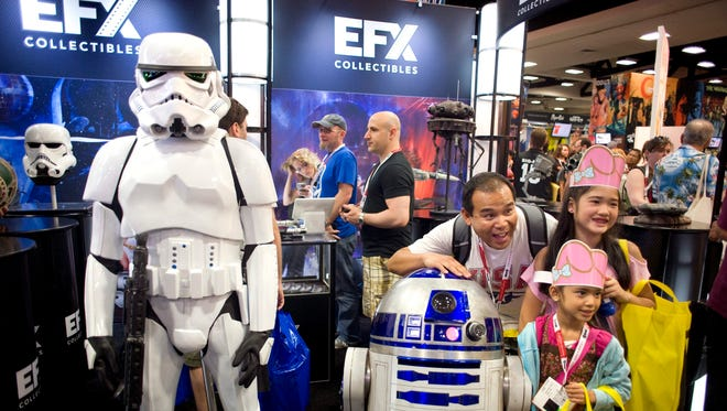 How do you spell Comic-Con? 'Stars Wars' Stormtroopers, R2-D2 and cute, costumed kids.