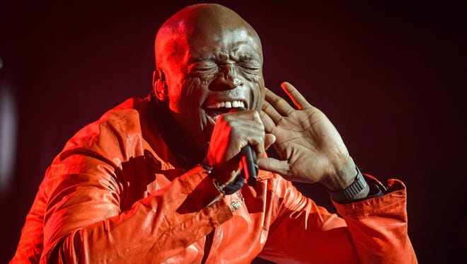 British singer Seal on stage in Lublin, Poland, November 2016.