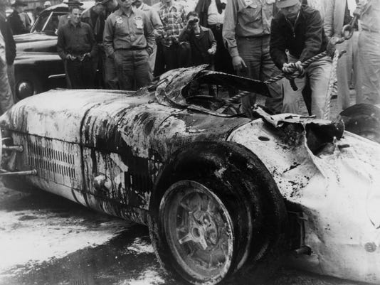 BILL VUKOVICH CAR AFTER CRASH