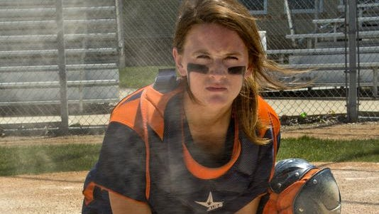 Harrison catcher Kaitlyn Carnahan is the Journal & Courier's Big School Softball Player of the Year.