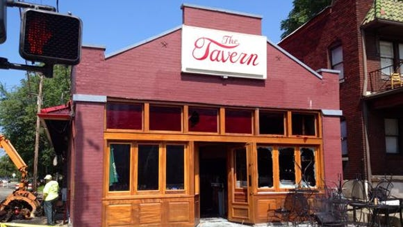The Tavern caught fire July 23.
