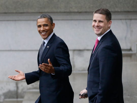 President Barack Obama and then-White House Communications Director Dan Pfeiffer in Washington, D.C., in 2013.