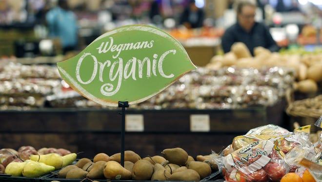 Organic produce at the Pittsford Wegmans.