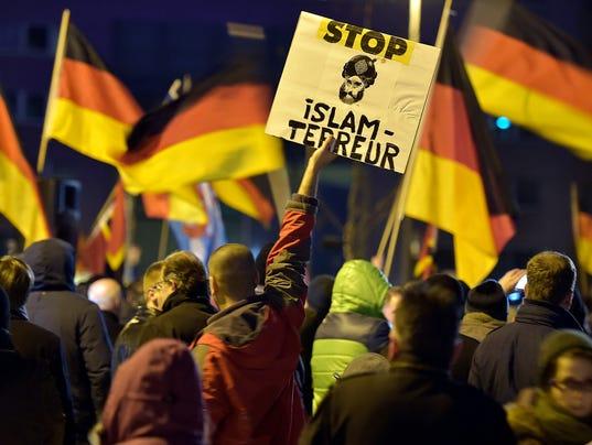AP GERMANY ANTI-ISLAM RALLIES I DEU