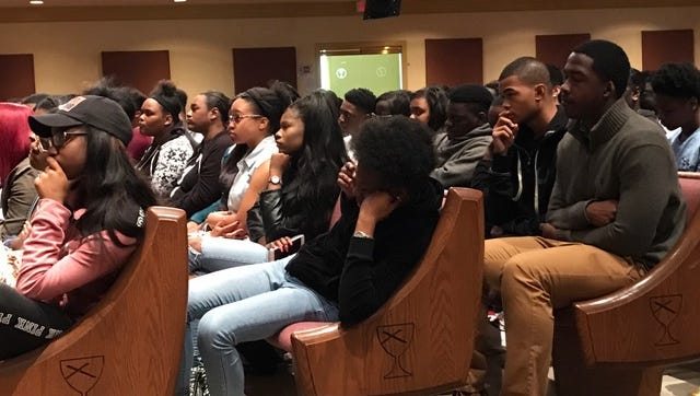 Youths listen to city officials and  speakers address their challenges and propose solutions at a recent forum.