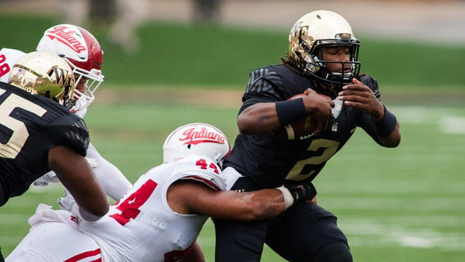 Wake Forest QB Kendall Hinton (2), who played well in last year's loss to IU, is out Saturday versus the Hoosiers.