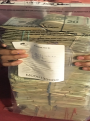 $261,782 in cash was seized during a drug trafficking