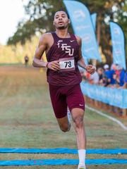 FSU's Michael Hall finished the Mens 8K 3rd overall