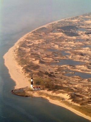 The Big Sable Point Lighthouse stands at Ludington State Park near the Nordhouse Dunes, north of Ludington.