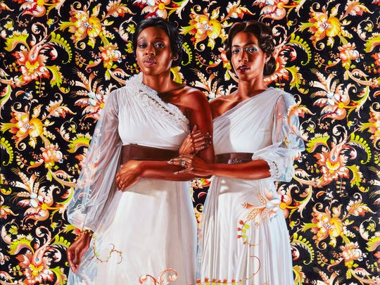 """The Two Sisters"" by Kehinde Wiley."